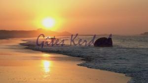 Coucher de soleil sur la plage des Amiets