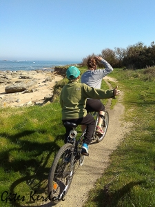 Balade en vélo tandem sur les chemins côtiers