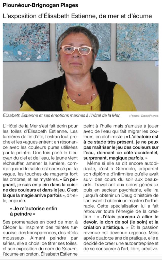 article de journal Ouest France