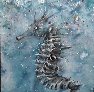 peinture d'hippocampe