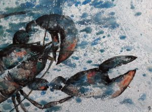 peinture homard