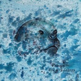 peinture d'un phoque