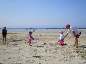 Vacances à la plage dans le Finistère